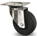 Industrihjul, gummi Ø 200x50 mm, länkhjul