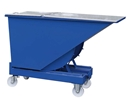 Blå tippcontainer med plant lock, 150 liter