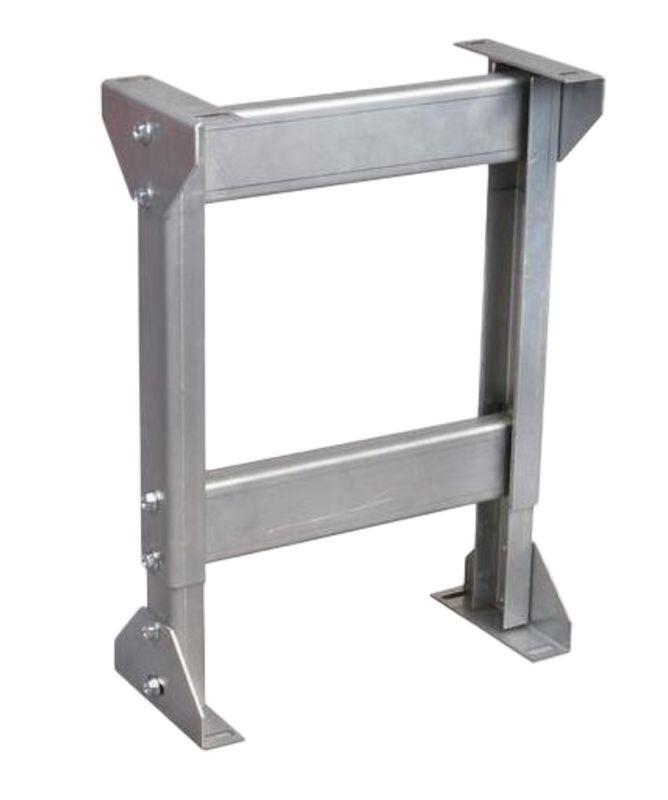 Stödbock till tung rullbana, ställbar höjd 670-970 mm. Banbredd 605 mm