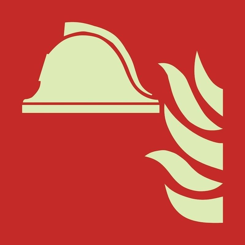 """Brandskylt """"Brandredskap"""", efterlysande"""