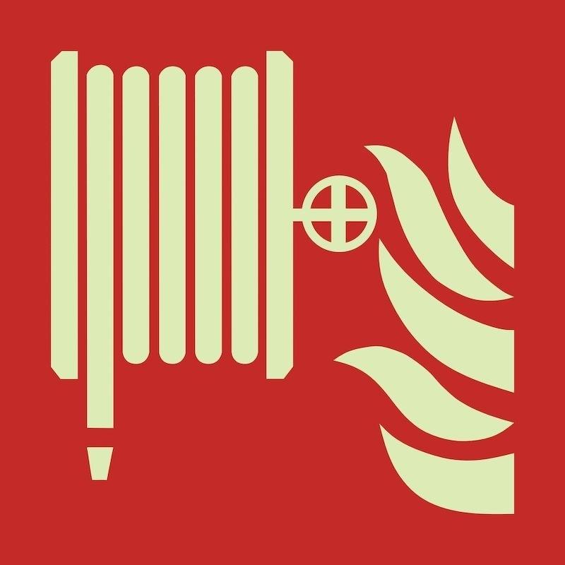 Brandskylt Brandslang, efterlysande