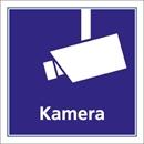 Övervakningsskylt Kamera, folie 100x100 mm