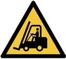 Varningsskylt Godstrafik, aluminium Ø 200 mm