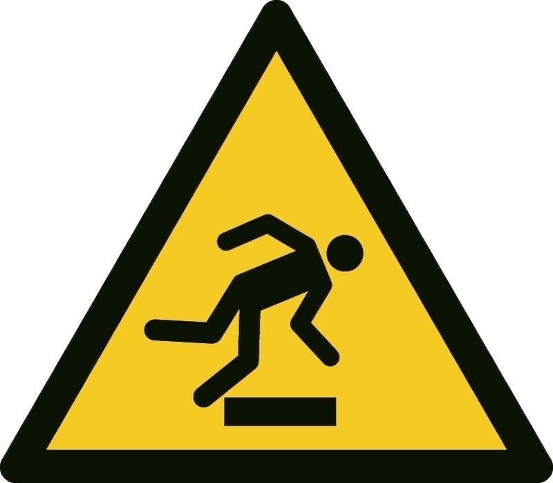 Varningsskylt Varning för hinder, aluminium Ø 200 mm