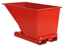 Tippcontainer Argos 600 L, LxBxH 1525x865x870 mm, röd