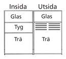 Skärmvägg Silence rak med glas överdel 800x1500 mm, tyg-glas/ trä-glas, Ljusgrå, Björk