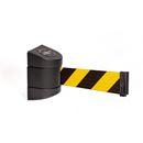 Avspärrningsband Tensabarrier Advance 2,3 m, stolpe: svart, band: svart/gul