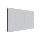 Edge Plus bordsskärm 2000x400  mm, Ljusgrå, Svart